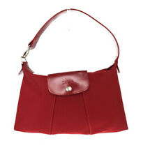 Auth Longchamp Le Pliage Nylon,Leather Shoulder Bag Red 08GA223