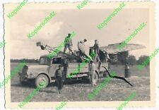 Vecchio ORIG. foto Africa Dak Msaken Fieseler Storch CAMION CAMO 244u