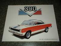 ★★1969 AMC SCRAMBLER RAMBLER 390 AMERICAN MOTORS ART PRINT 69 SC HURST PICTURE★★