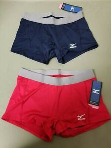 New Mizuno Womens Drylite Volleyball Flat Front Shorts.    2 Colors To Choose.