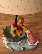 Winnie the Pooh and Piglet In Water Upside Down Umbrella Lamp Child's Room