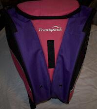 Transpack Ice Skate Ski Boots Helmet Backpack Pink and Purple Bag EUC!