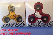 Pikachu + Hello Kitty Ball Tri-Spinner Fidget Toy EDC Hand Finger Spinners