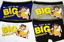 "SHORTY BOXER SLIP HOMME SEXY FANTAISIE ""Yo, Look at my Big Banana "" T.M L XL XXL"