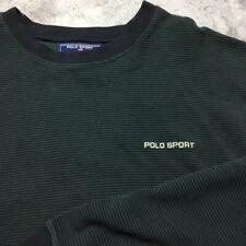 90s VTG POLO SPORT SPORTSMAN Ralph Lauren STRIPED T Shirt Spell Out Logo XXL og