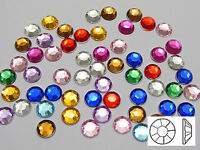 "250 Acrylic Round Flatback Rhinestone Gems 8mm(0.32"") Pick Your Color"