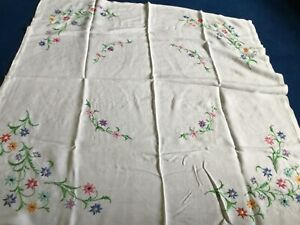 Vintage Hand Embroidered Table Cloth.