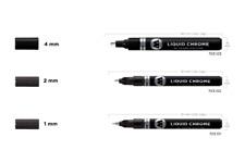Molotow Liquid Chrome Marker Set (1mm+2mm+4mm) Tip