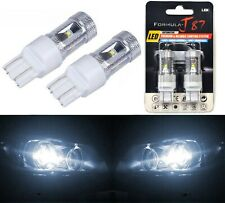 LED Light 30W 7443 White 5000K Two Bulbs Front Turn Signal Replace Upgrade Lamp