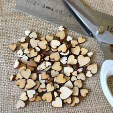 100pcs Rustic Wooden Love Heart Wedding Table Scatter Decoration Crafts DIY B0