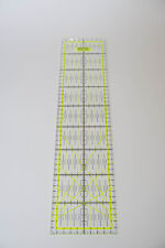 Gelbes Patchwork Lineal 45x10cm mit Zentimeterraster