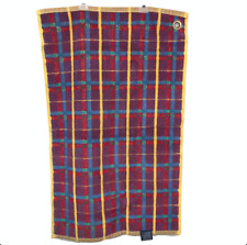 Polo Ralph Lauren Check Multi Hand Golf Towel Plaid Grommet Made in USA Thick