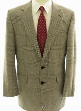 Daks Vtg Wool WIndowpane Two Button 44L Men Sport Coat Blazer Jacket Coat