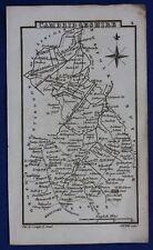 Original antique miniature county map CAMBRIDGESHIRE, Samuel Leigh, 1820-31