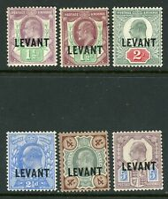 British Levant 1905 selection to 5d MM