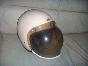 Vintage 1962 Bell Toptex with Paulson Bubble Visor 7 1/8 Open Racing Helmet