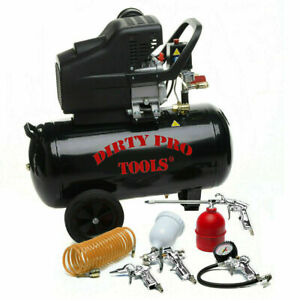 Air Compressor 50 Litres 8Bar 115Psi 230V Electric 50L - Free Tool Kit Included