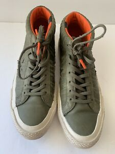 Converse One Star Counter Climate Mid Leather Sneaker Olive Green 158836C 7.5