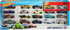 Hot Wheels 20 Pack Cars Set Die Cast Multi 1:64 Scale Toy Car Gift Set  H7045