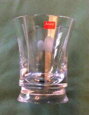 Vase Design Crystal Carved Baccarat Stamped