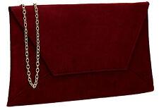 fd269621ea4d Womens Faux Suede Velvet Ladies Evening Party Prom Smart Envelope Clutch Bag