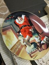 Norman Rockwell Bradford Exchange Santa Clause Plate Series 1991