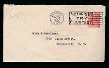 CANADA 1937 MOTORISTS SLOGAN MACHINE CANCEL on KG5 STATIONERY ENVELOPE