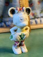 """Vintage Marx Toys Disneykins MINNIE MOUSE Figure 1"""" Plastic Hand Painted 1960s"""