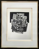 """VICTOR VASARELY (1906-1997) ANCIENNE LITHOGRAPHIE """" CYNETIQUE """" DENISE RENE (3)"""