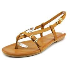 Sandalias y chanclas de mujer planos de color principal marrón, talla 36