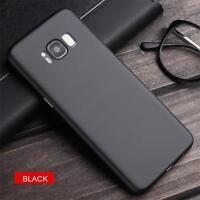 LaraM Ultra Slim Samsung Galaxy S8 Plus + Hülle Schwarz Schutzhülle Carbon Fiber