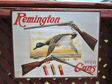Remington Firearms Rifle Gun Ammo Duck Hunting Advertising Metal Picture Sign
