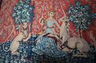 Vintage Unicorn with Portrait Paris Royal Family Wall Hanging Rug