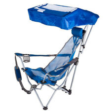 Kelsyus Backpack Beach Portable Camping Folding Lawn Chair with Canopy, Blue