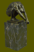 Bronze Sculpture Art Modern Diver Signed New Hand Crafted Hot Cast Lost Wax Gift