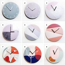 Modern Minimalist Nordic Style Quartz MDF Wooden Wall Clock 30cm Size Home Decor