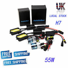 55W H7 CANBUS HID XENON SLIM KIT NO FLICKER NO ERROR SHOW ON DASH AUTO 6000K