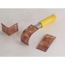 Copper Welder Helper 3pc Set With Handle Curved Flat Angled Plates Weld Welding