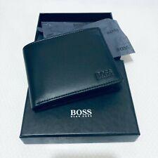 Hugo Boss Men's Asolo Leather Bifold Card & Coin Pocket Wallet Black
