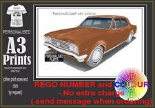 70-71 HG HOLDEN PREMIER A3 ORIGINAL PERSONALISED PRINT POSTER CLASSIC RETRO CAR
