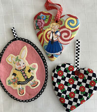 Mary Engelbreit Ornament Trio Ann Estelle Easter Bunny & Fried Egg Flowers