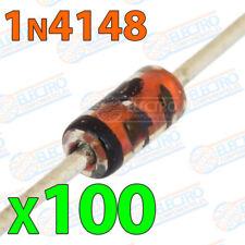 100x 1N4148 Diodos rectificadores 200mA 100V DO-35 electronica soldar pcb pic