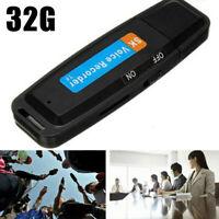 32GB Digital Voice Audio Recorder USB Flash Drive Sound Record Nice +