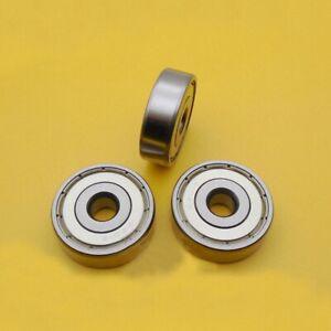 3pcs Non Standard Sealed Metal Shielded Ball Bearing 6201/8 ZZ  8 x 32 x 10mm