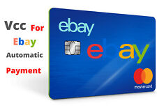 VCC Virtual Credit Card For Ebay Automatic payment step verify works worldwide
