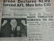WW2 NEWSPAPER JANUARY 26 1940 Nazis Threaten Rumania On Oil BNP CM