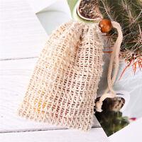 Bolsas protector abón sisal duraderas bolsas de malla de jabón de baño du QN