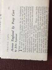 L1k Ephemera 1961 Article Across England By Pony Cart John Seymour