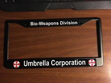 Umbrella Corporation Black License Plate Frame
