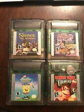Nintendo Gameboy Color Games Spongebob/Shrek/Scooby-Doo/Donkey Kong Country